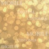 Telco Telecom mobile  business  blue texture customer concept. Yellow Telco Telecom mobile business blue texture customer concept background Royalty Free Stock Image