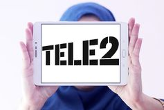 Tele2 AB firmy logo Zdjęcie Stock