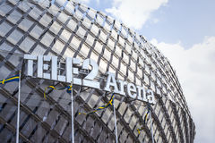 Tele2 arena Stoccolma fotografie stock