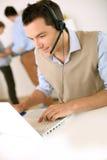Tele-assistente no telefone imagens de stock royalty free
