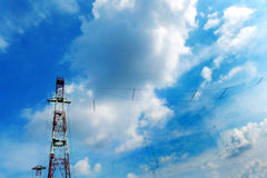 Tele communications High technology tower royalty free stock images