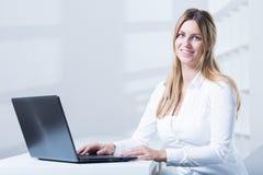 Tele consultant during work Stock Image