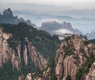 Tele image of Huangshan mountain Stock Photos