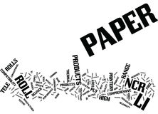 Tele Paper Produces A Comprehensive Range Of Ncr Paper Roll Text Background  Word Cloud Concept Royalty Free Stock Image