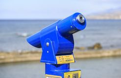 Telescope to see landscapes royalty free stock image