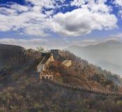 Tele torn Kina för stor vägg Arkivfoton