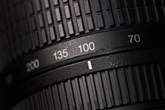 Tele zoom camera lens closeup Stock Image
