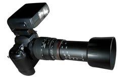Teleaufnahme-Kamera w/Paths Lizenzfreie Stockfotos