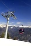 Telecabin en las montañas Fotografía de archivo libre de regalías