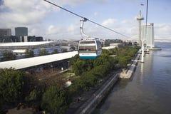 Telecabine en Lisboa, Portugal imágenes de archivo libres de regalías