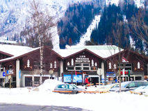 Telecabine Le Tour Col De Balme ski station, Chamonix, France Royalty Free Stock Photo