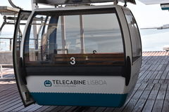 Telecabine Lisboa in Lisbon, Portugal Royalty Free Stock Photos