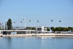 Telecabine Lisbonne à Lisbonne, Portugal Images libres de droits