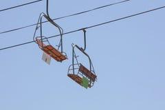 Telecadeira em um parque de diversões Imagem de Stock