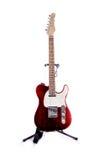 Telecaster-Art-Gitarren-Rot Lizenzfreie Stockbilder