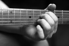 Telecaster guitar. Close up black and white shot Royalty Free Stock Photography