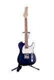 Telecaster Style Guitar Blue Royalty Free Stock Images