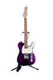 Telecaster Style Guitar Purple Stock Images
