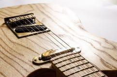 Telecaster-tipo guitarra eléctrica foto de archivo