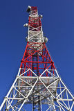 Telecom Antenna. Metal construction against blue sky Royalty Free Stock Image