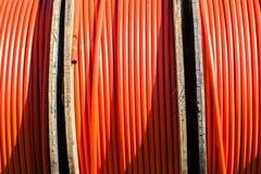 Telecom IT Cable Plastic Tubing Stock Photo