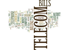 Telecom Contracts Is This Where The Money Is Text Background Word Cloud Concept Stock Photos