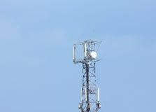 Telecom gsm antenna tower Stock Image