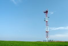 Telecom GSM tower Royalty Free Stock Images
