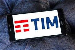 Telecom Italia, TIM logo Zdjęcia Stock