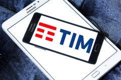Telecom Italia, TIM logo Fotografia Royalty Free