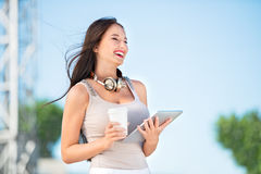 Telecom lady. Royalty Free Stock Photography