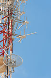 Telecom mast Royalty Free Stock Photo