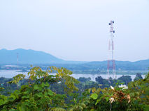 Telecom microwave tower Stock Images