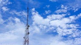 Telecom pole, telecom tower stock footage