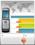 Telecom provider brochure. A communication themed vector brochure Royalty Free Stock Photo