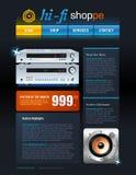 Telecom provider flyer Royalty Free Stock Image