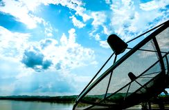 Telecom in the sky Royalty Free Stock Photo