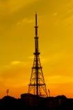 TElecom Tower. A telecom tower at dusk Stock Photos