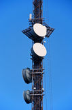 Telecom tower. With microwave links on blue sky Oslo Norway Stock Images