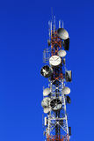 Telecom tower. And blue sky Royalty Free Stock Image