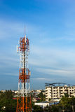 Telecom tower and beautiful blue sky Royalty Free Stock Images