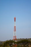 Telecom tower and blue sky Stock Image