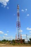 Telecom tower. And blue sky background Stock Photo