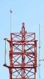 Telecom tower closeup. Stock Photo