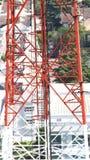 Telecom tower closeup. Stock Photos