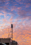 Telecom tower with  golden cloud Royalty Free Stock Photos