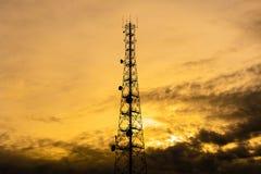 Telecom tower Royalty Free Stock Photos