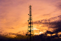 Telecom tower Stock Image