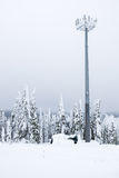 Telecom tower on a stormy winter day Royalty Free Stock Photos
