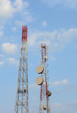 Telecom Tower Structure against with sky Stock Photography